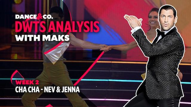 DWTS MAKS ANALYSIS: Week 2 - Nev Schulman & Jenna Johnson's Cha Cha