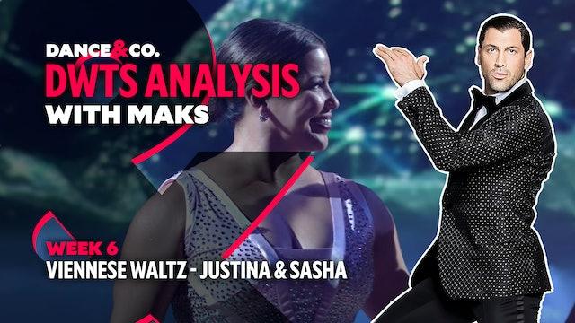 DWTS MAKS ANALYSIS: Week 6 - Justina Machado & Sasha Farber's Viennese Waltz