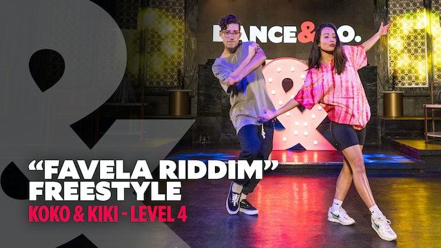 "Kiki & Koko - ""Favela Riddim"" - Freestyle - Level 4"