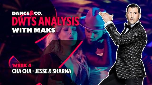 DWTS MAKS ANALYSIS: Week 4 - Jesse Metcalfe & Sharna Burgess's Cha Cha