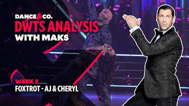 DWTS MAKS ANALYSIS: Week 2 - AJ Mclean & Cheryl Burke's Foxtrot