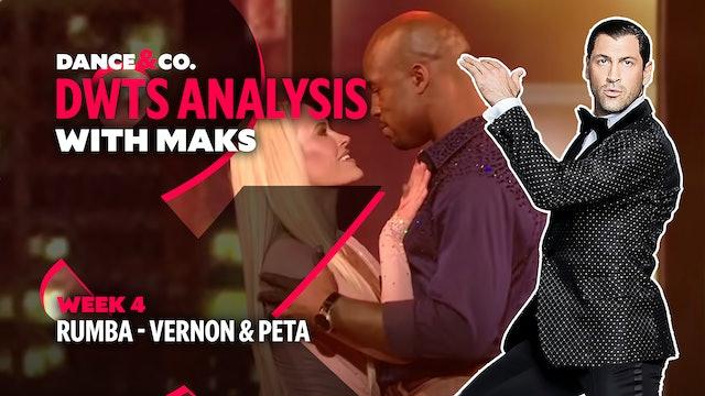DWTS MAKS ANALYSIS: Week 4 - Vernon Davis & Peta Murgatroyd's Rumba