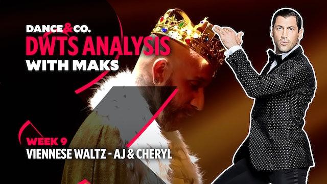 DWTS MAKS ANALYSIS: Week 9 - AJ Mclean & Cheryl Burke's Viennese Waltz