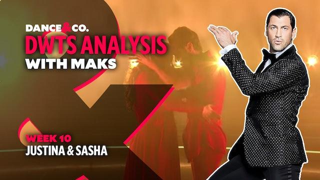 DWTS ANALYSIS: Week 10 - Justina Machado & Sasha Farber