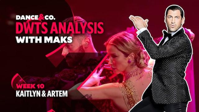 DWTS ANALYSIS: Week 10 - Kaitlyn Bristowe & Artem Chigvintsev