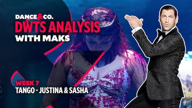 DWTS MAKS ANALYSIS: Week 7 - Justina Machado & Sasha Farber's Tango