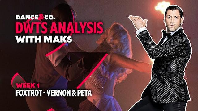 DWTS ANALYSIS: Week 1 - Vernon Davis & Peta Murgatroyd's Foxtrot