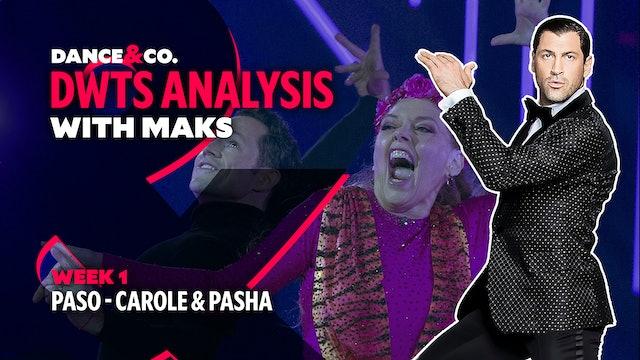 DWTS ANALYSIS: Week 1 - Carole Baskin & Pasha Pashkov's Paso