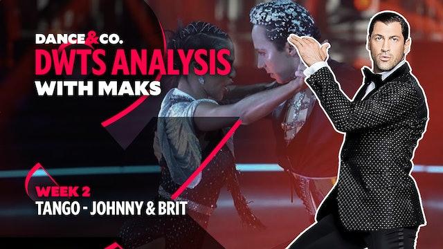 DWTS MAKS ANALYSIS: Week 2 - Johnny Weir & Britt Stewart's Tango
