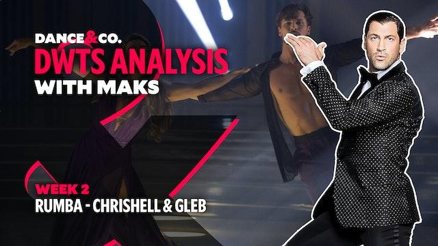 DWTS MAKS ANALYSIS: Week 2 - Chrishell Stause & Gleb Savchenko's Rumba