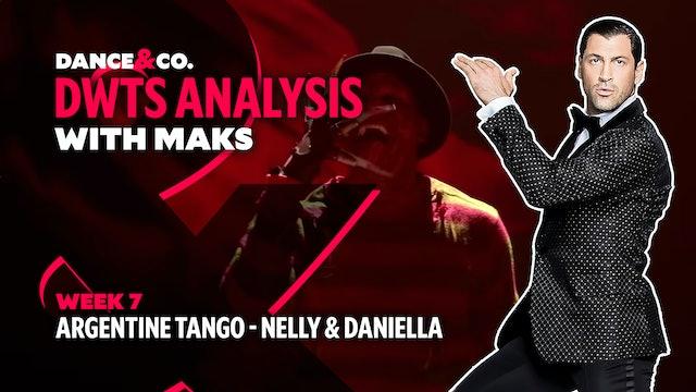 DWTS MAKS ANALYSIS: Week 7 - Nelly & Daniella Karagach's Argentine Tango