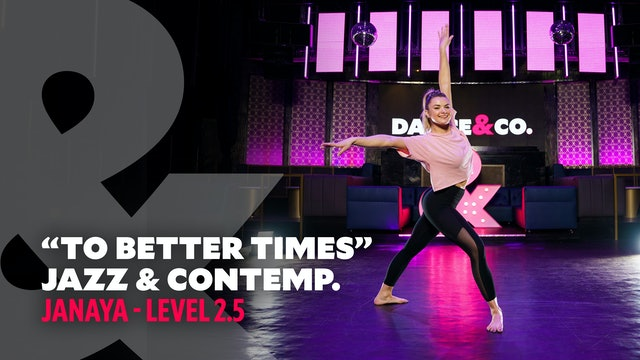 "TRAILER: Janaya - Jazz & Contemporary ""To Better Times"" - Level 2.5"