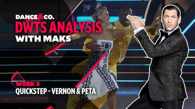 DWTS MAKS ANALYSIS: Week 3 - Vernon Davis & Peta Murgatroyd's Quickstep