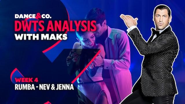 DWTS MAKS ANALYSIS: Week 4 - Nev Schulman & Jenna Johnson's Rumba