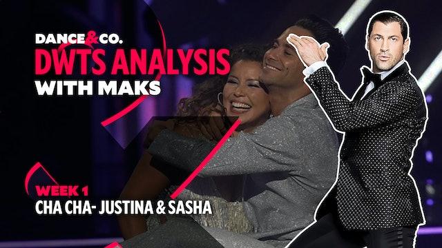 DWTS ANALYSIS: Week 1 - Justina Machado & Sasha Farber's Cha Cha
