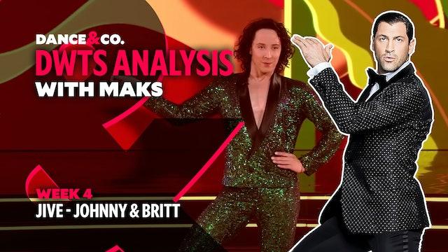 DWTS MAKS ANALYSIS: Week 4 - Johnny Weir & Britt Stewart's Jive