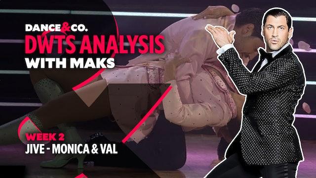 DWTS ANALYSIS: Week 2 - Monica Aldama & Valentin Chmerkovskiy's Jive