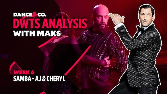 DWTS MAKS ANALYSIS: Week 6 - AJ Mclean & Cheryl Burke's Samba
