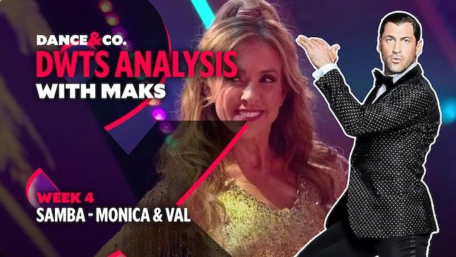 DWTS ANALYSIS: Week 4 - Monica Aldama & Valentin Chmerkovskiy's Samba