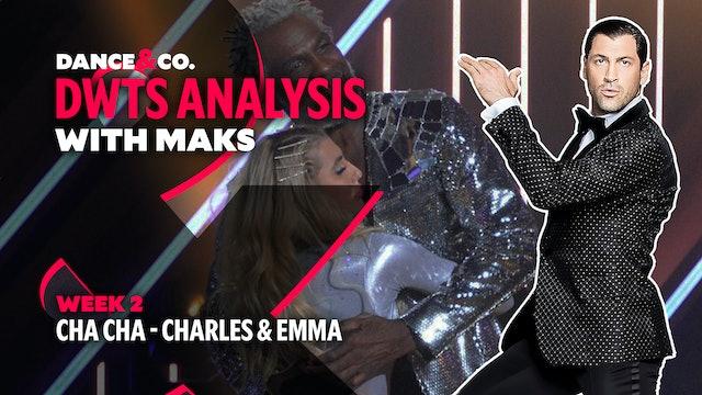 DWTS ANALYSIS: Week 2 - Charles Oakley & Emma Slater's Cha Cha