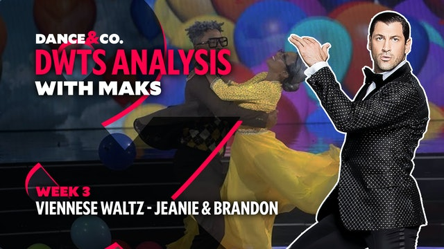 DWTS MAKS ANALYSIS: Week 3 - Jeannie Mai & Brandon Armstrong's Viennese Waltz