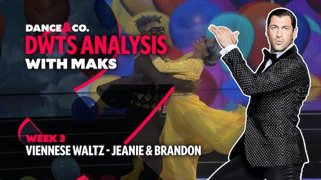 DWTS MAKS ANALYSIS: Week 3 - Jeannie ...