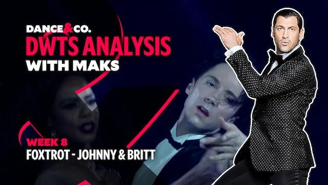 DWTS MAKS ANALYSIS: Week 8 - Johnny Weir & Britt Stewart's Foxtrot