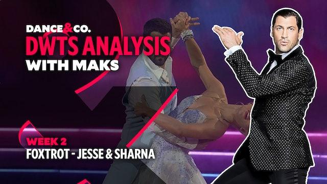 DWTS MAKS ANALYSIS: Week 2 - Jesse Metcalfe & Sharna Burgess's Foxtrot