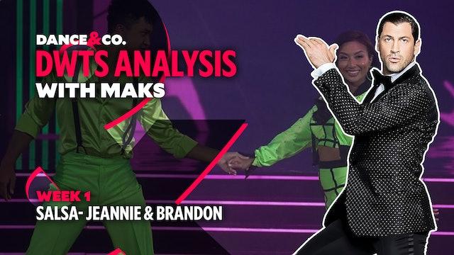 DWTS ANALYSIS: Week 1 - Jeannie Mai & Brandon Armstrong's Salsa