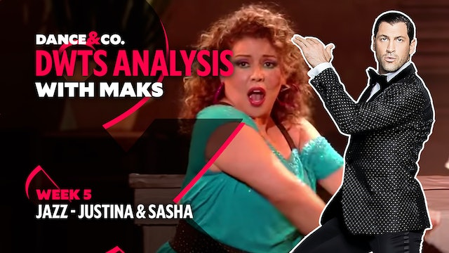 DWTS MAKS ANALYSIS: Week 5 - Justina Machado & Sasha Farber's Jazz