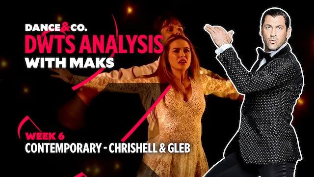 DWTS MAKS ANALYSIS: Week 6 - Chrishell Stause & Gleb Savchenko's Contemporary