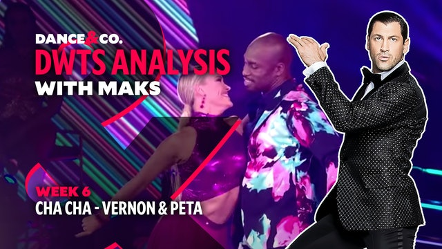 DWTS MAKS ANALYSIS: Week 6 - Vernon Davis & Peta Murgatroyd's Cha Cha