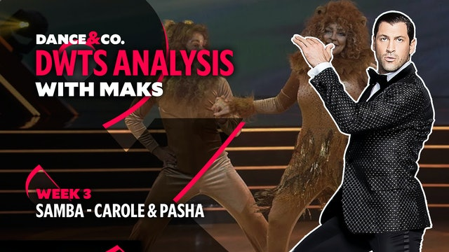 DWTS MAKS ANALYSIS: Week 3 - Carole Baskin & Pasha Pashkov's Samba