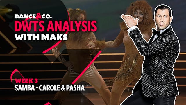 DWTS MAKS ANALYSIS: Week 3 - Carole B...