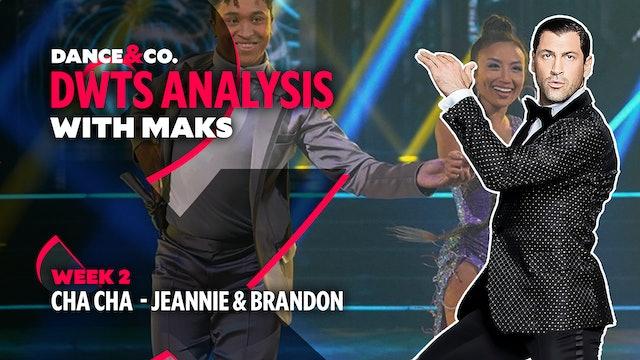 DWTS MAKS ANALYSIS: Week 2 - Jeannie Mai & Brandon Armstrong's Cha Cha