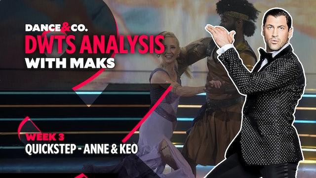 DWTS ANALYSIS: Week 3 - Anne Heche & Keo Motsepe's Quickstep