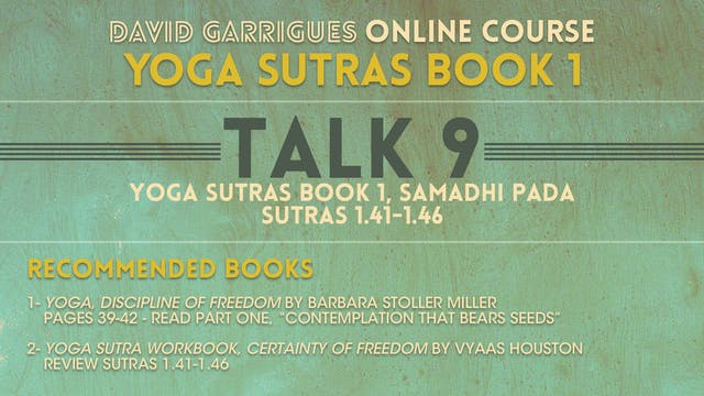Book 1: Talk 9