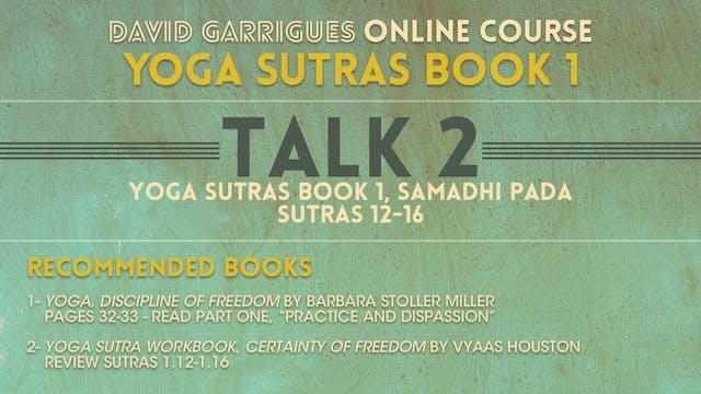 Book 1: Talk 2