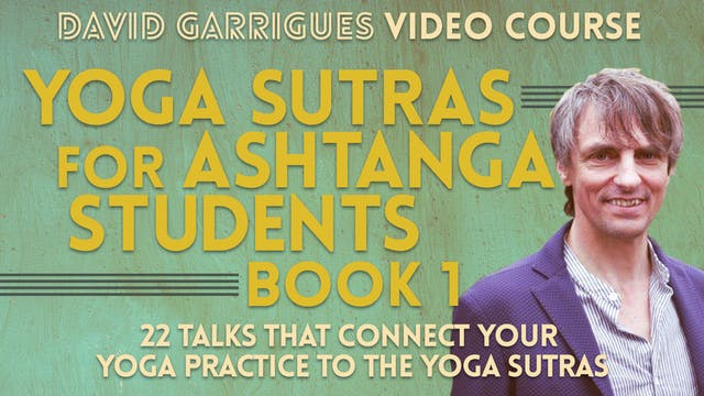 Yoga Sutras for Ashtanga Students (Book 1)