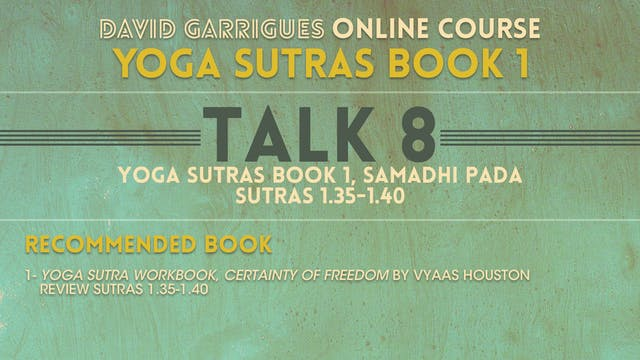 Book 1: Talk 8