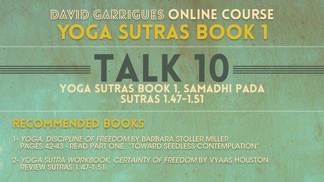 Book 1: Talk 10