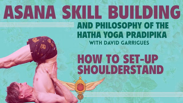 Learn how to set up Shoulderstand pos...