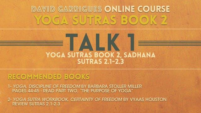 Book 2: Talk 1