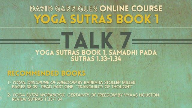 Book 1: Talk 7