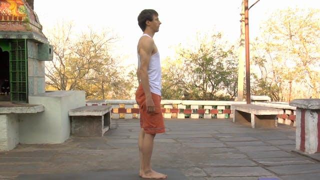 Ardha Baddha Padmottanasana Modification (Half Bound Lotus Standing Forward Fold Posture)