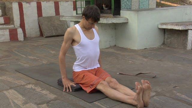 Dandasana Modification (Staff Posture)