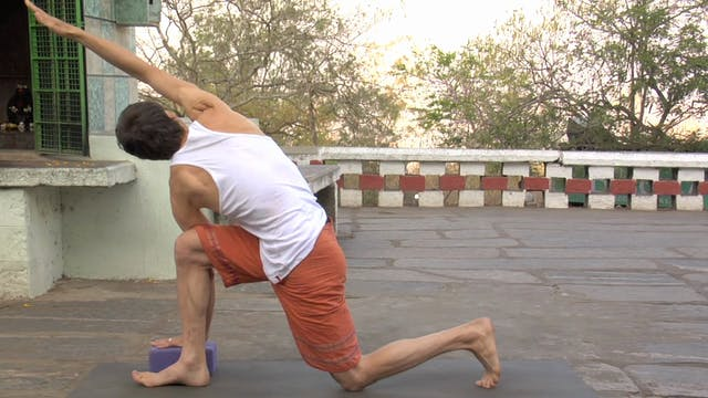 Parivrtta Parsvakonasana modification...