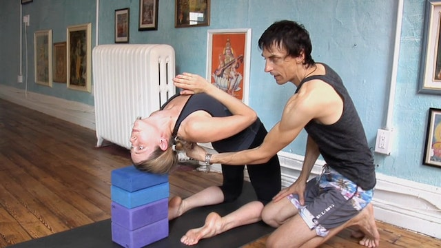 Kapotasana or King Pigeon Posture Keep Spine Centered over Foundation