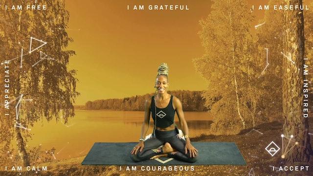 NEW | 35 Min Yoga with Karine | Gratitude | Serotonin
