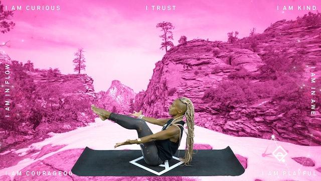 NEW | 34 Min Yoga with Karine | Accepting Fall | Oxytocin